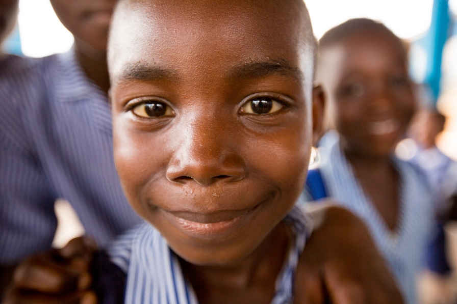 A student at a private Christian school in Ghana.